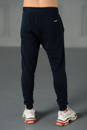 Set Kali-Fit hanorac si pantalon conic cu tur lasat Navy [9]