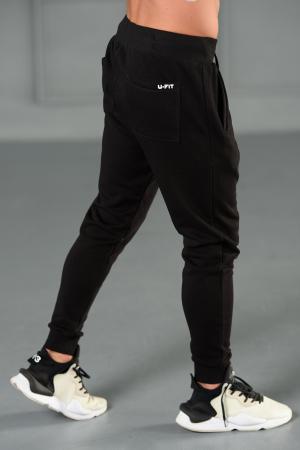 Set Kali-Fit hanorac si pantalon conic cu tur lasat Off White/Black [10]