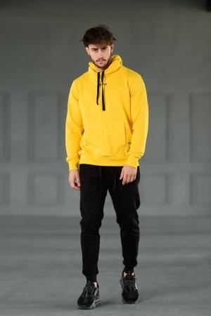 Set Kali-Fit hanorac si pantalon conic cu tur lasat Yellow/Black [1]
