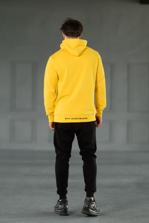 Set Kali-Fit hanorac si pantalon conic cu tur lasat Yellow/Black [2]
