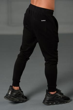 Set Kali-Fit II hanorac imprimat si pantalon conic cu tur lasat Off White/Black [8]