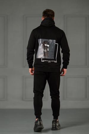 Set Kali Pro-Fit hanorac si pantalon cu tur lasat Black [2]