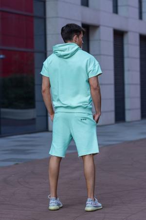 Set Malibu hanorac si pantalon scurt Mint [2]