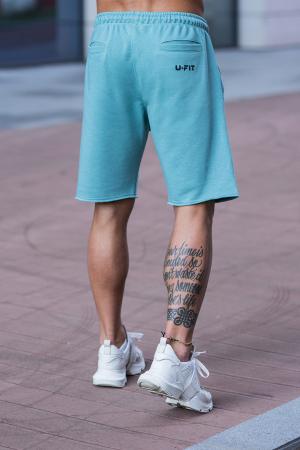 Set Malibu hanorac si pantalon scurt Dusty Turquoise [12]