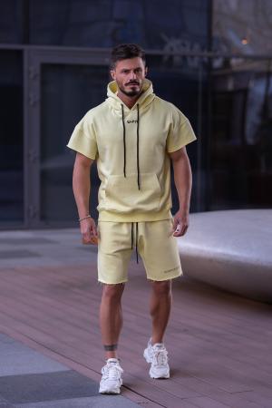 Set Malibu hanorac si pantalon scurt Yellow [1]