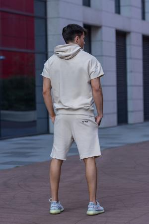 Set Malibu hanorac si pantalon scurt Light Beige [4]