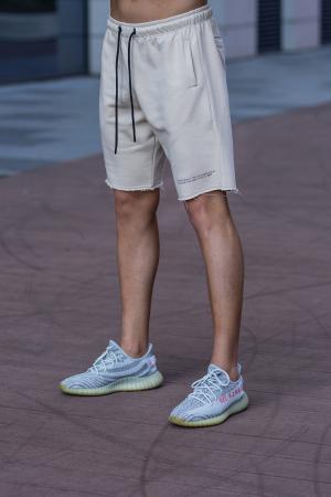Set Malibu hanorac si pantalon scurt Light Beige [9]