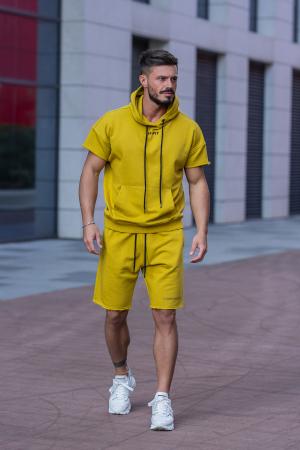 Set Malibu hanorac si pantalon scurt Mustard [0]