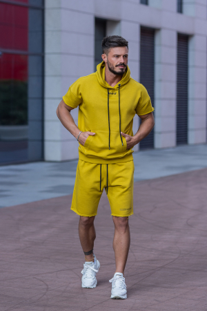Set Malibu hanorac si pantalon scurt Mustard [1]