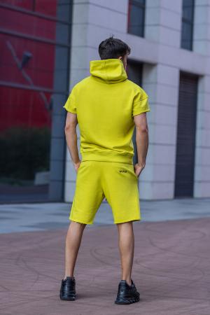 Set Malibu hanorac si pantalon scurt lime green [5]
