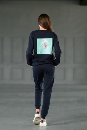 Set Revolve bluza imprimata si pantalon Navy [0]