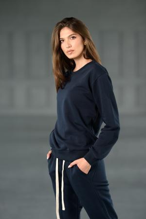 Set Revolve bluza imprimata si pantalon Navy [3]