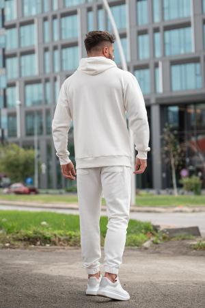 Set Rock-Fit hanorac cu fermoar si pantalon conic Off White [4]