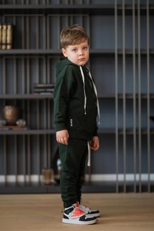 Set Rock-Fit Kids hanorac si pantalon dark green [3]