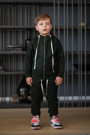 Set Rock-Fit Kids hanorac si pantalon dark green [7]