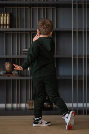 Set Rock-Fit Kids hanorac si pantalon dark green [2]