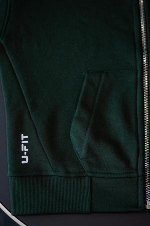 Set Rock-Fit Kids hanorac si pantalon dark green [5]