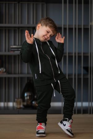 Set Rock-Fit Kids hanorac si pantalon dark green [1]