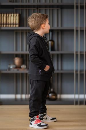 Set Rock-Fit Kids hanorac si pantalon black [6]