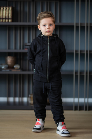 Set Rock-Fit Kids hanorac si pantalon black [11]