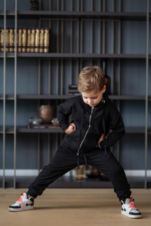 Set Rock-Fit Kids hanorac si pantalon black [4]