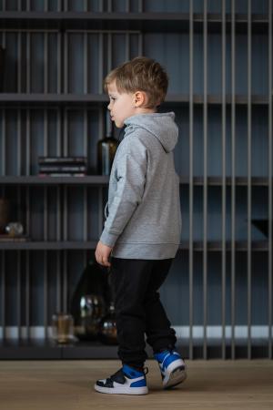 Set Rock-Fit Kids hanorac si pantalon grey/black [3]