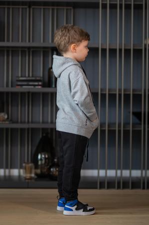 Set Rock-Fit Kids hanorac si pantalon grey/black [5]