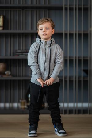Set Rock-Fit Kids hanorac si pantalon grey/black [4]