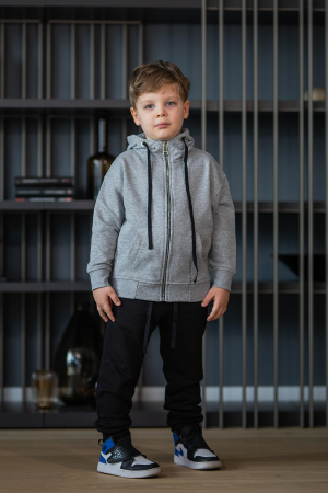 Set Rock-Fit Kids hanorac si pantalon grey/black [0]