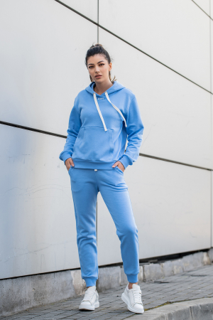 Set Row hanorac si pantalon Aqua Blue [0]
