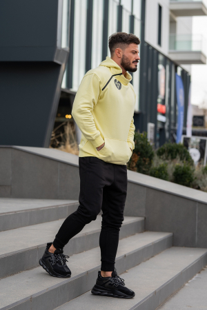 Set Star-Fit hanorac si pantalon conic galben/negru [2]