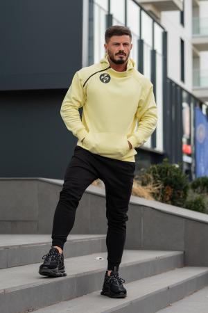 Set Star-Fit hanorac si pantalon conic galben/negru [1]