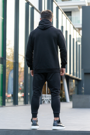 Set Kali Pro-Fit hanorac si pantalon conic Black [2]