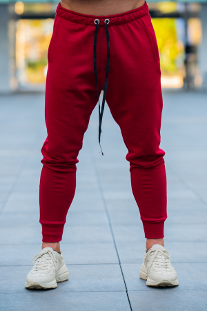 Set Kali-Fit hanorac si pantalon conic bordeaux [5]