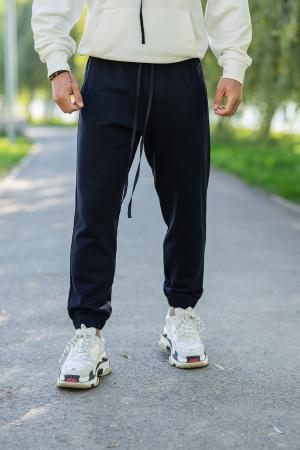 Set Easy-Fit hanorac si pantalon Oversized White/Navy [4]