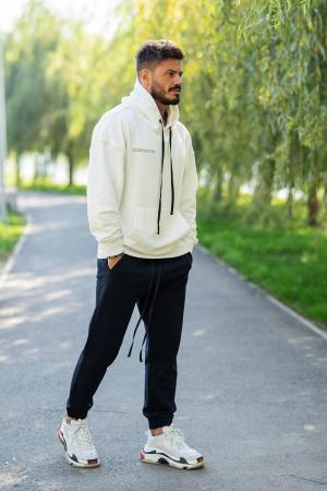 Set Easy-Fit hanorac si pantalon Oversized White/Navy [2]