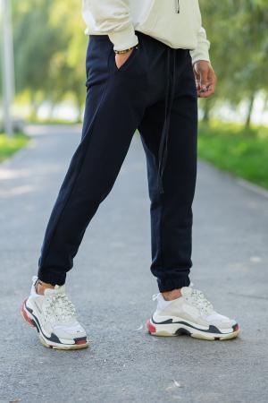 Set Easy-Fit hanorac si pantalon Oversized White/Navy [5]