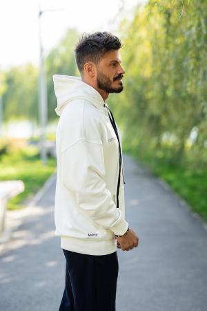 Set Easy-Fit hanorac si pantalon Oversized White/Navy [3]