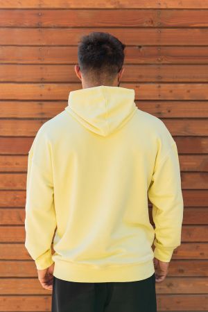 Set Easy-Fit hanorac si pantalon Oversized galben/negru [4]