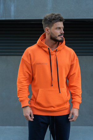 Set Easy-Fit hanorac si pantalon Oversized Orange/Navy [3]