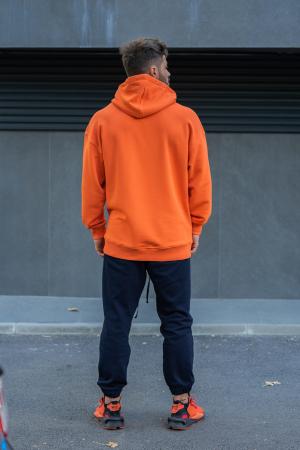 Set Easy-Fit hanorac si pantalon Oversized Orange/Navy [1]
