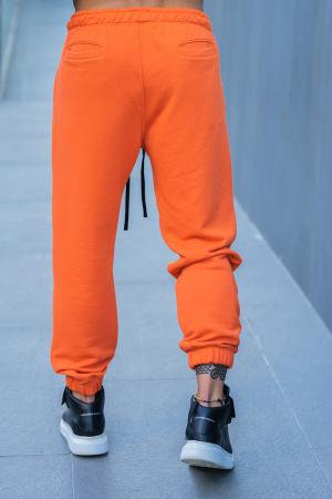 Set Easy-Fit hanorac si pantalon Oversized bleumarin/portocaliu [8]