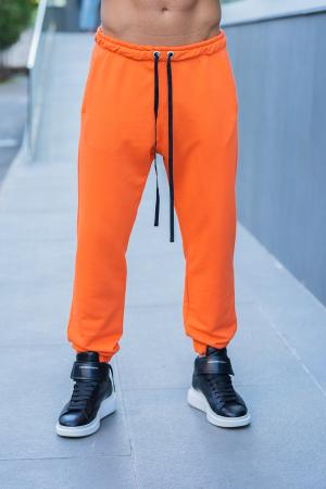 Set Easy-Fit hanorac si pantalon Oversized bleumarin/portocaliu [6]