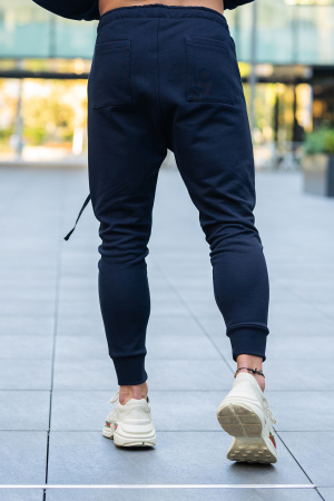 Set Star-Fit hanorac si pantalon conic bleumarin [8]