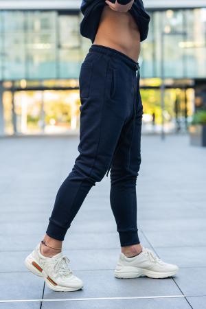 Set Star-Fit hanorac si pantalon conic bleumarin [7]