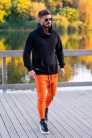 Set Kali-Fit hanorac si pantalon conic Black/Orange [1]