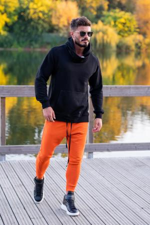 Set Kali-Fit hanorac si pantalon conic Black/Orange [2]