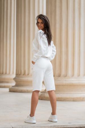 Set Undone Bluza si Pantalon Scurt OFF White [4]