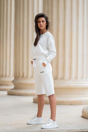 Set Undone Bluza si Pantalon Scurt OFF White [0]