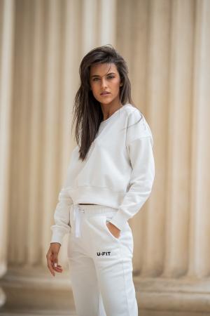Set Undone Bluza si Pantalon Scurt OFF White [1]